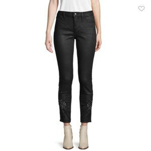 NWT Driftwood Coated Embroidered High-Rise Jeans